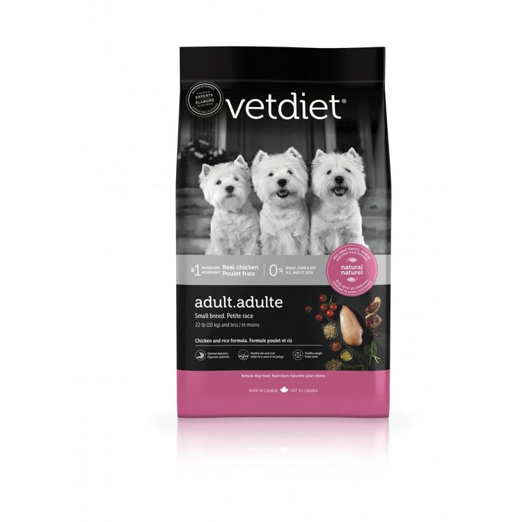 Vetdiet Chicken & Rice Formula Adult Small Breed Dog Food