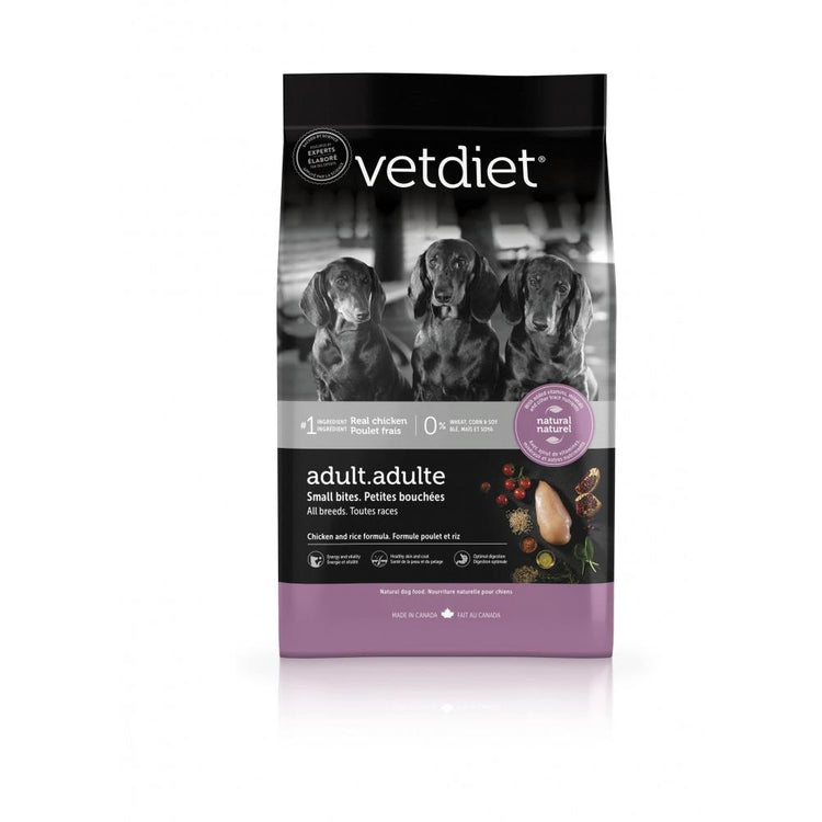 Vetdiet Chicken & Rice Formula Adult Small Bites All Breeds Dry Dog Food