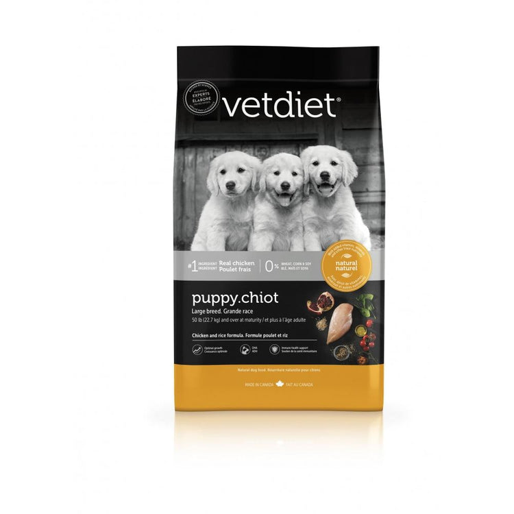 Vetdiet Chicken & Rice Formula Puppy Large Breed Dry Food