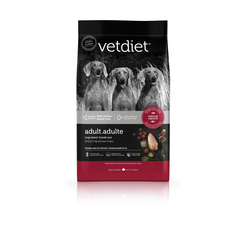 Vetdiet Chicken & Rice Formula Adult Large Breed Dry Dog Food