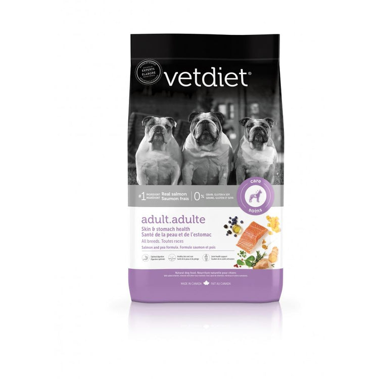 Vetdiet Salmon & Pea Formula Adult Skin & Stomach Health All Breeds Dry Dog Food