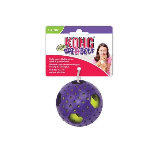 KONG Bat-A-Bout Flicker Disco Cat Toy