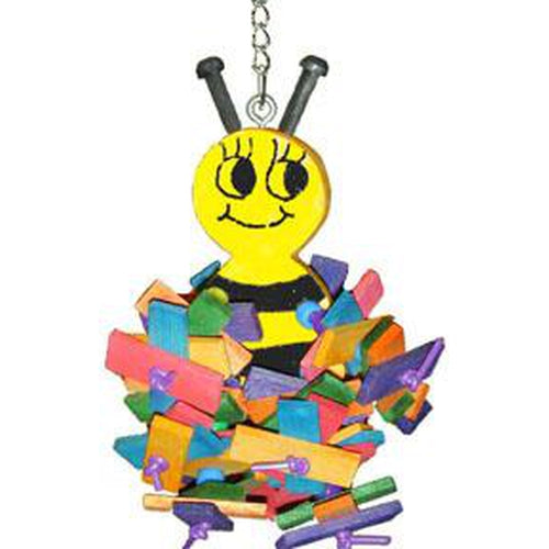 A & E Happy Beaks Busy Bee Bird Toy Bird Cage Accessory