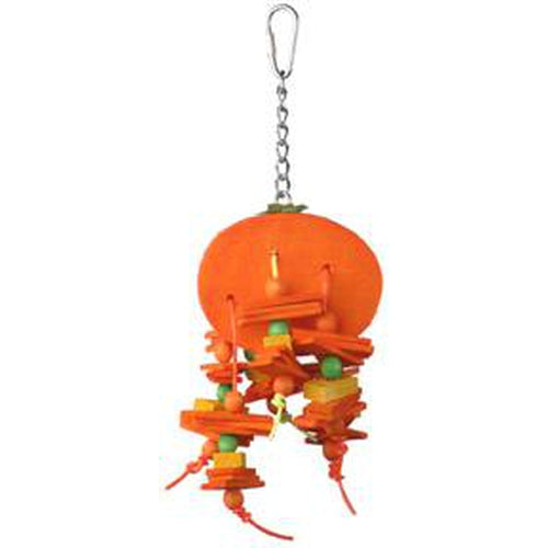 A & E Happy Beaks Small Orange Bird Toy Bird Cage Accessory