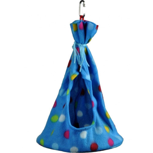 A & E Happy Beaks Fleece Teepee Bird Cage Accessory