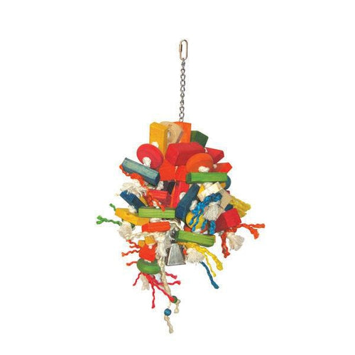 A & E Happy Beaks Large Cluster Of Blocks Bird Cage Accessory