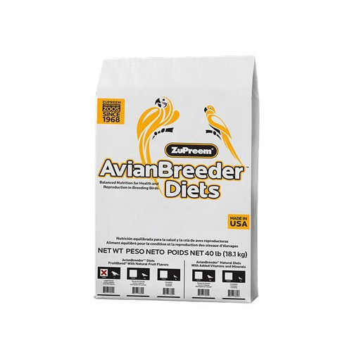 Zupreem AvianBreeder FruitBlend Flavor Food with Natural Flavors for Large Birds