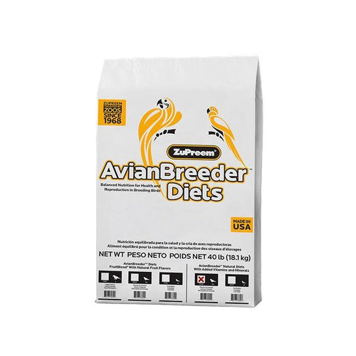 Zupreem AvianBreeder Natural Food with Added Vitamins and Minerals for Parrots and Conures