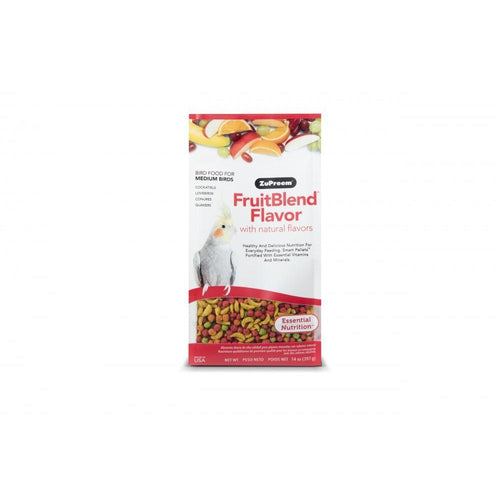 Zupreem FruitBlend Flavor Food with Natural Flavors for Medium Birds