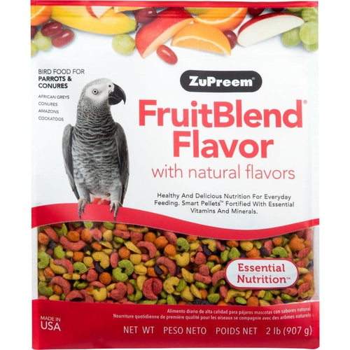 Zupreem FruitBlend Flavor Food with Natural Flavors for Parrots and Conures