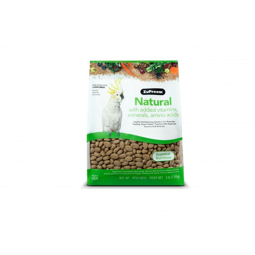 Zupreem Natural Food with Added Vitamins Minerals Amino Acids for Large Birds