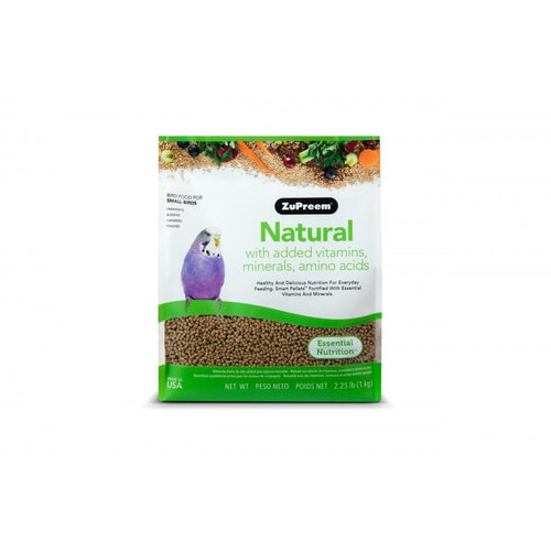 Zupreem Natural Food with Added Vitamins Minerals Amino Acids for Small Birds