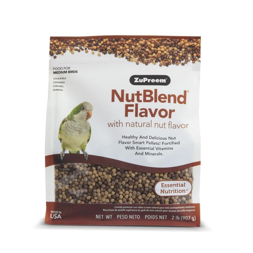 Zupreem NutBlend Flavor Food with Natural Nut Flavors for Medium Birds