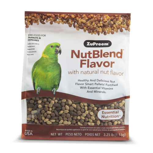 Zupreem NutBlend Flavor Food with Natural Nut Flavors for Parrot and Conures