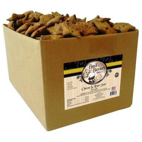 Basil & Baxter's Cheese Liver Star Dog Biscuits 10 lbs