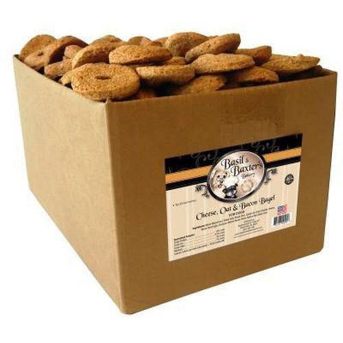 Basil & Baxter's Cheese Oat Bacon Bagel Biscuits 10 lbs