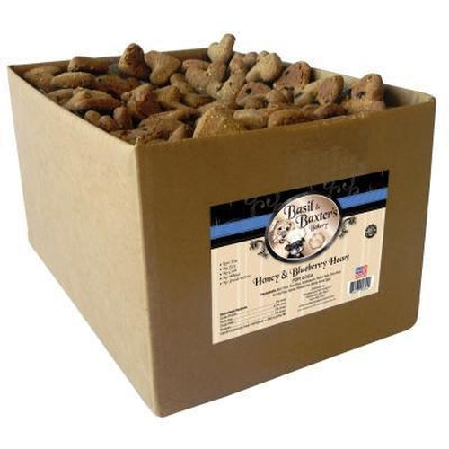 Basil & Baxter's Honey Blueberry Heart Dog Biscuits 10 lbs