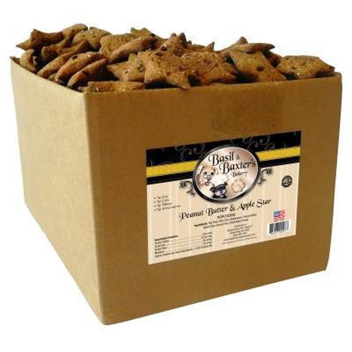 Basil & Baxter's Peanut Butter & Apple Star Dog Biscuits 10 lbs
