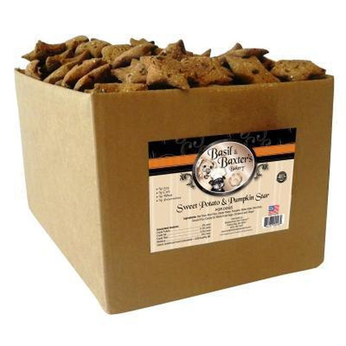 Basil & Baxter's Sweet Potato Pumpkin Star Dog Biscuits 10 lbs