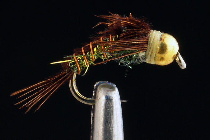 Kyle's BH C-N Superflash Pheasant Tail - Olive (12 Pack)