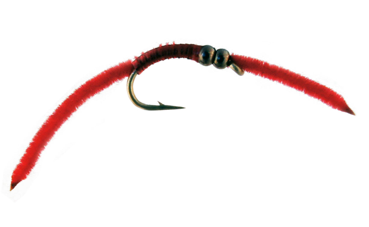Jake's DB Rib Worm - Red (12 Pack)
