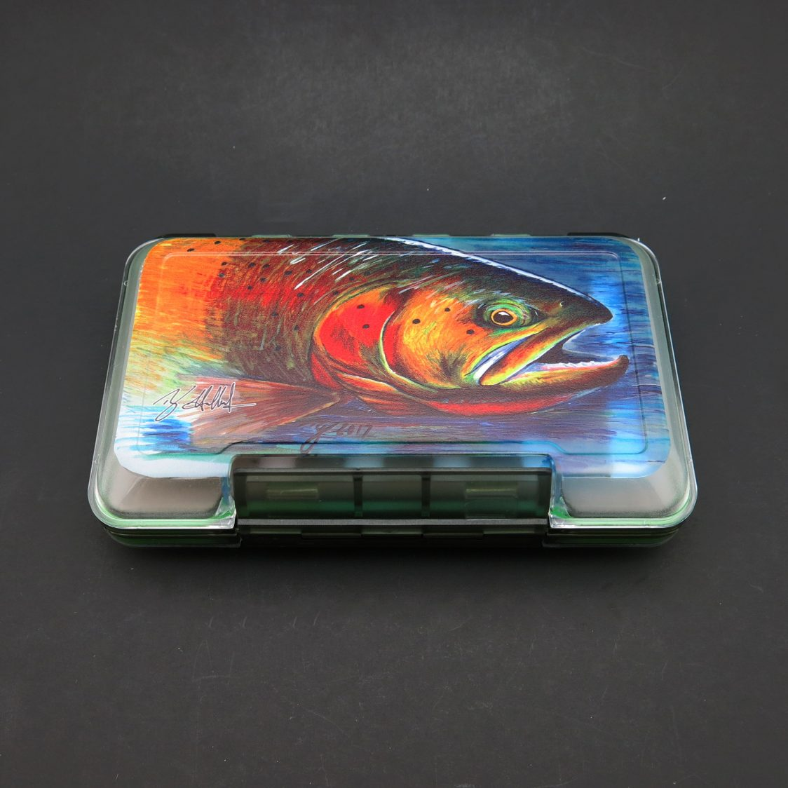 MFC Artist Series Waterproof Fly Box - Hallock's Cutthroat Trout (Medium)