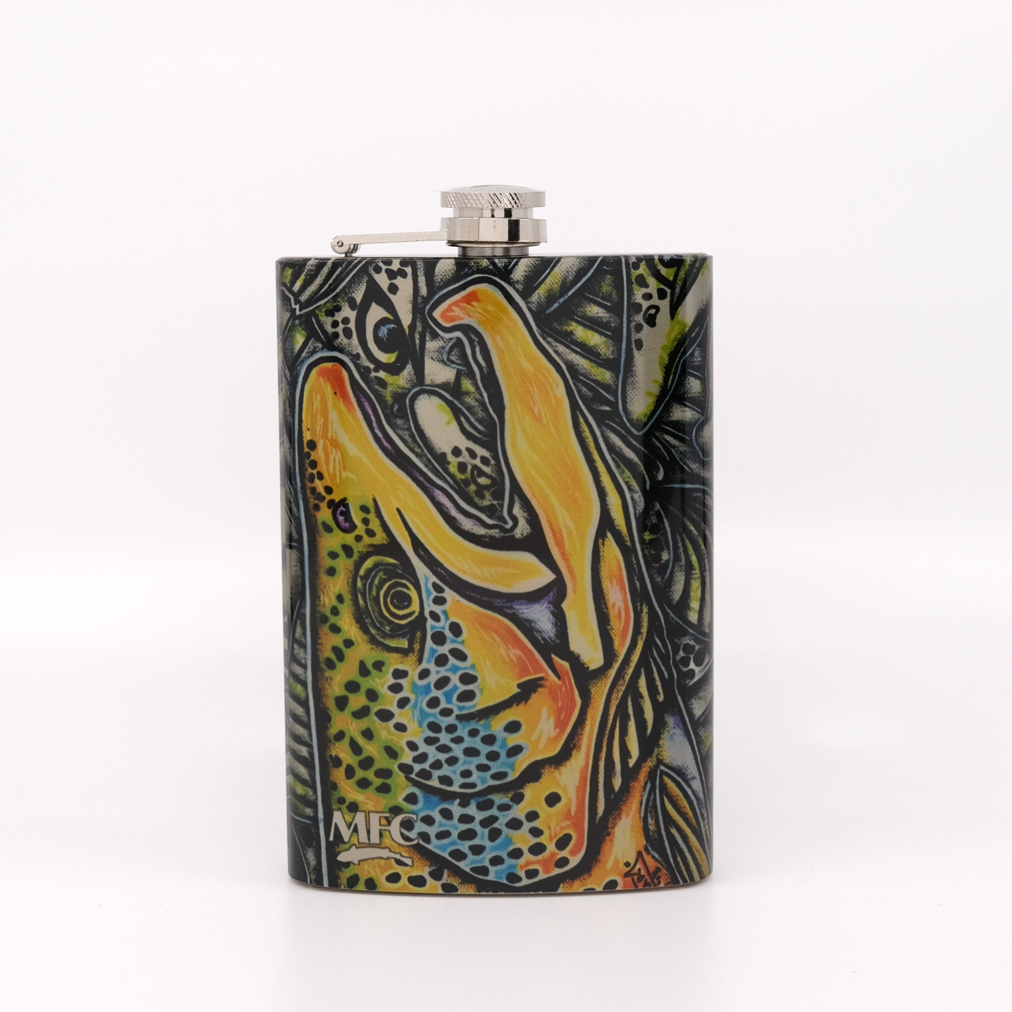 MFC Hip Flask - Estrada's Brown Trout Graffiti