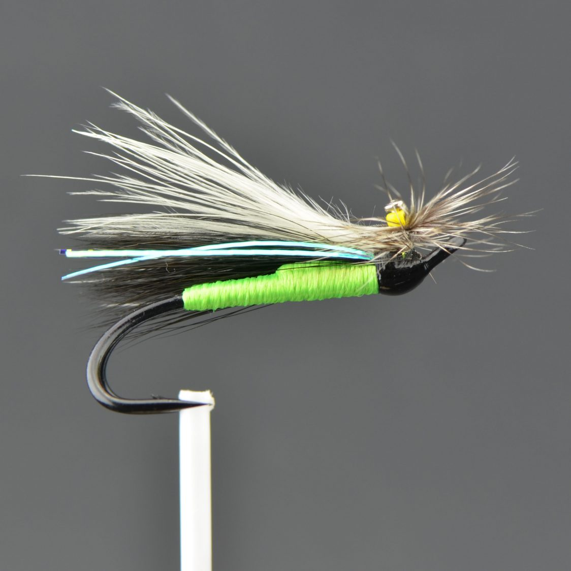 Stone Fly - Green / Silver (Double)