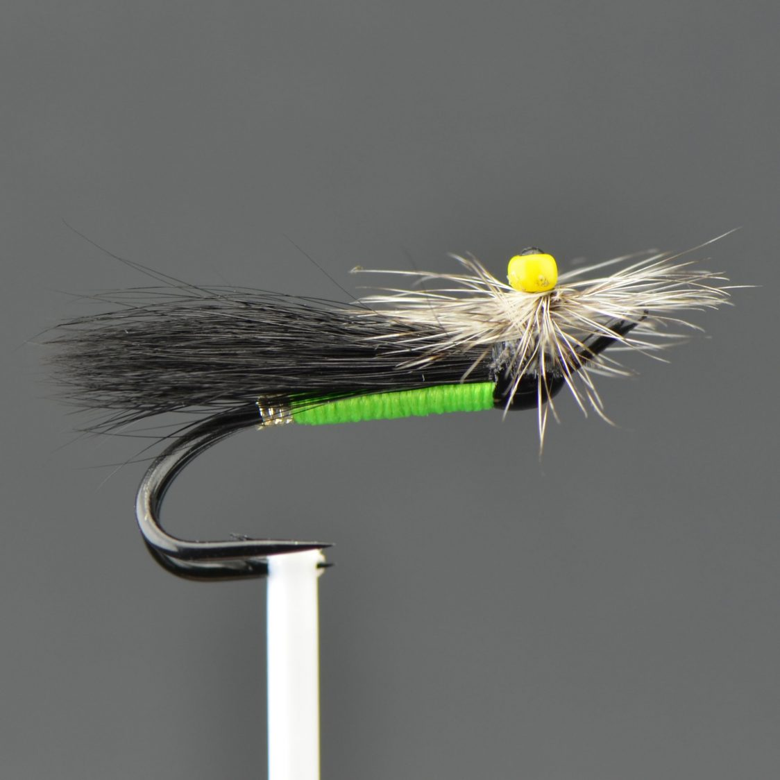 Stone Fly - Green Body/ Black Wing/ Grizzly Hackle