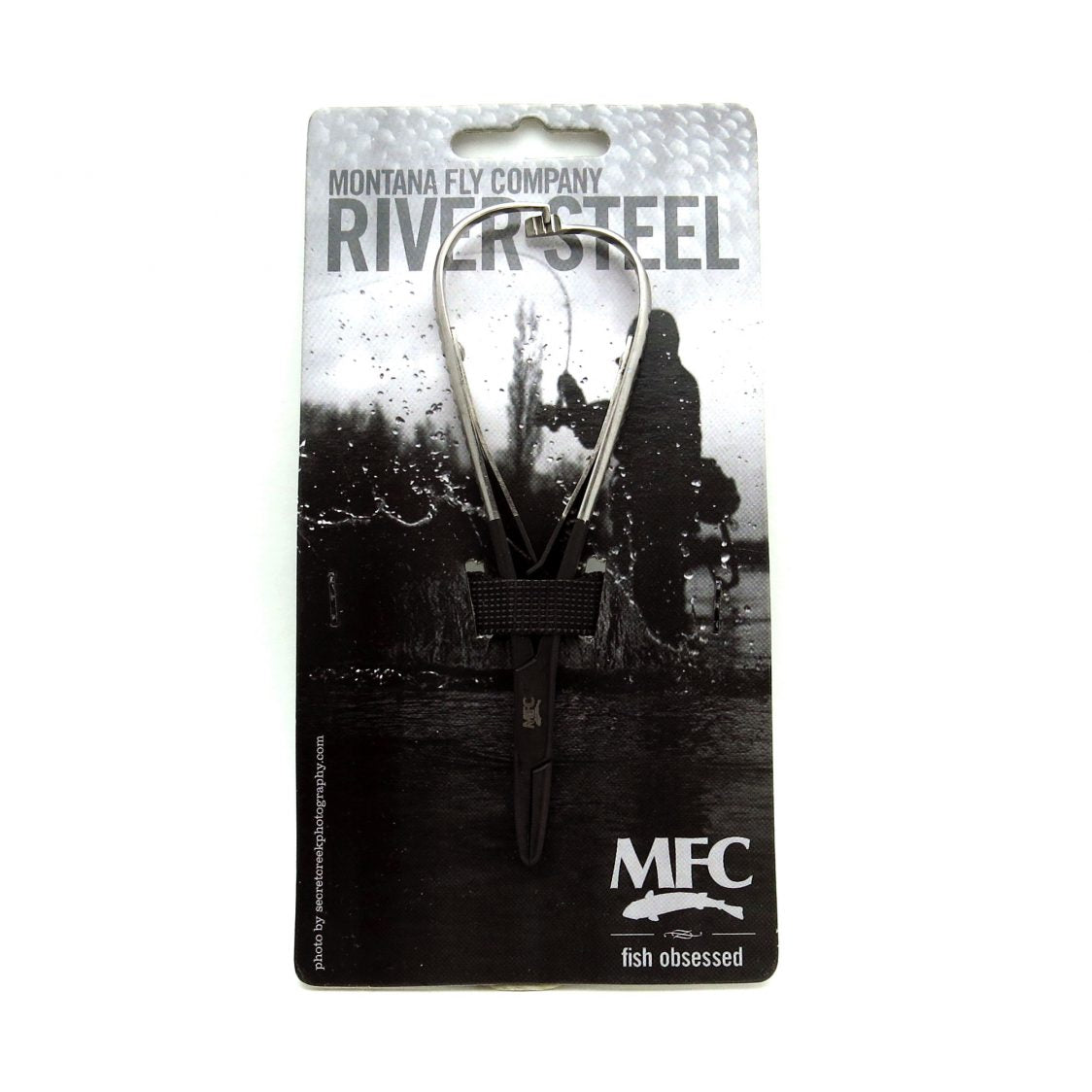 MFC River Steel - 5-1/2″ Mitten Clamp Forceps (Black/Silver)
