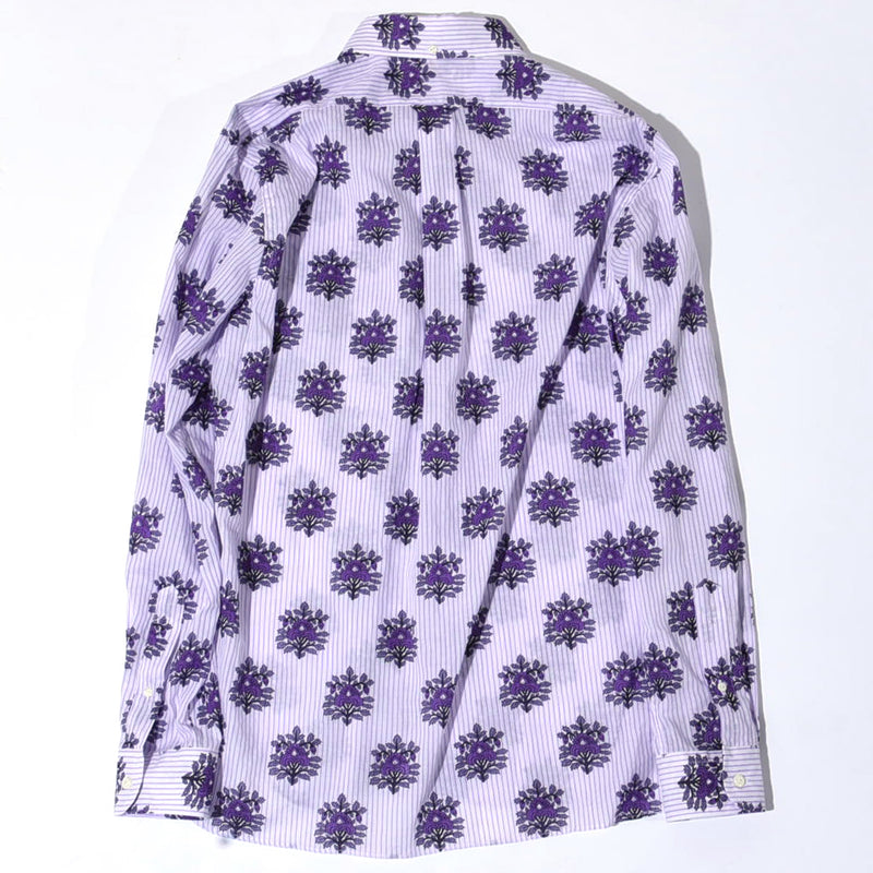 FLOWER STRIPE BD SHIRT