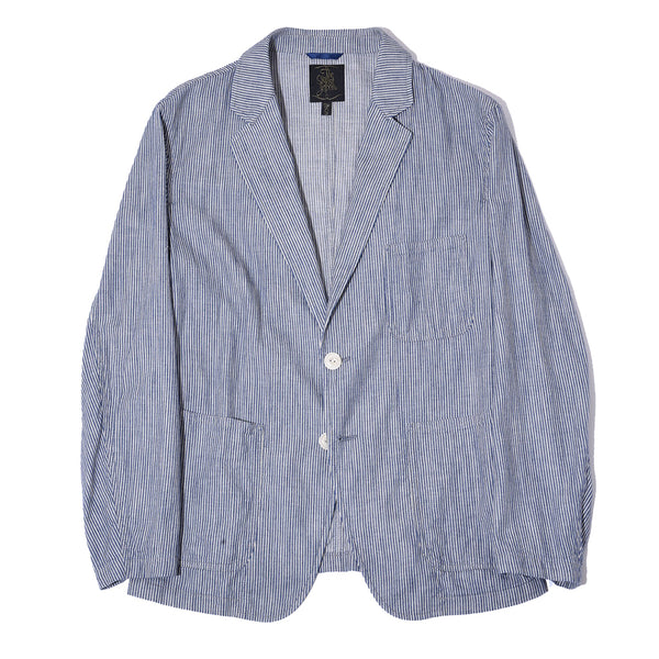 INDIGO STRIPE JACKET