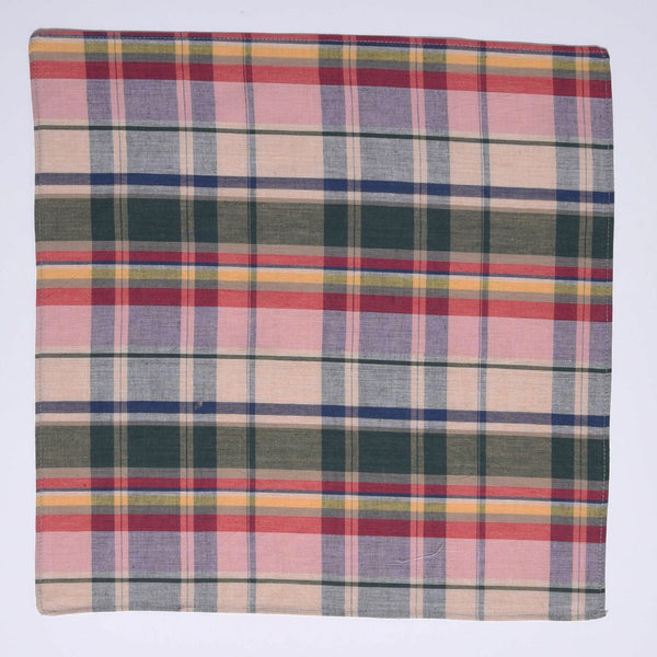 MADRAS CHECK POCKET CHIEF