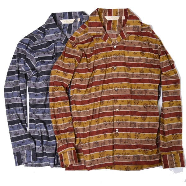 MEXICAN PRINT LONG SLEEVES OP SHIRTS
