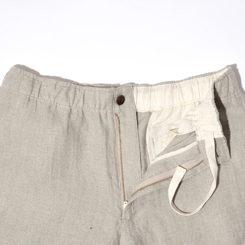 LINEN HERRINGBONE SHORTS