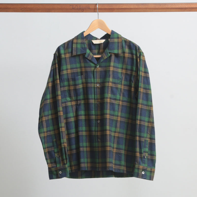 OPEN COLLAR CHECK SHIRTS