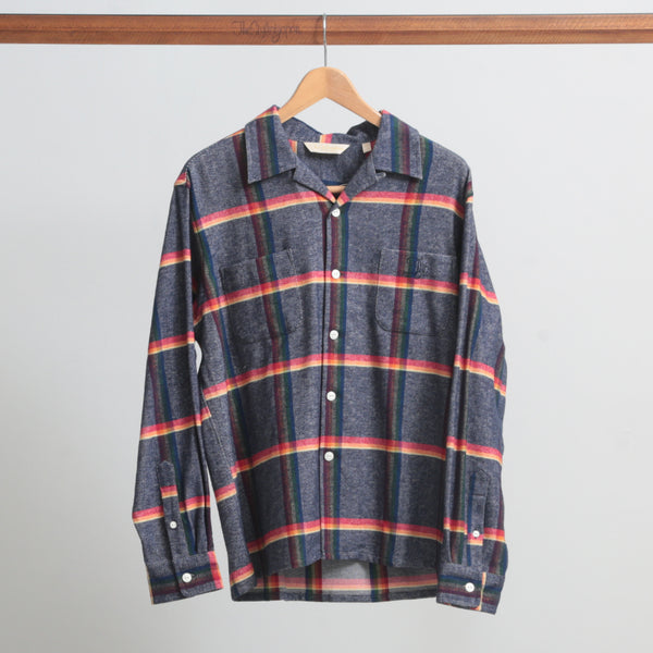 OPEN COLLAR HEAVY WEIGHT CHECK SHIRTS