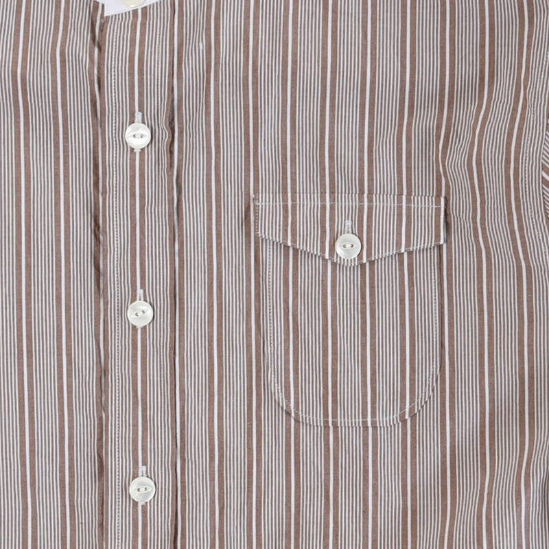 STAND COLLAR STRIPE SHIRT