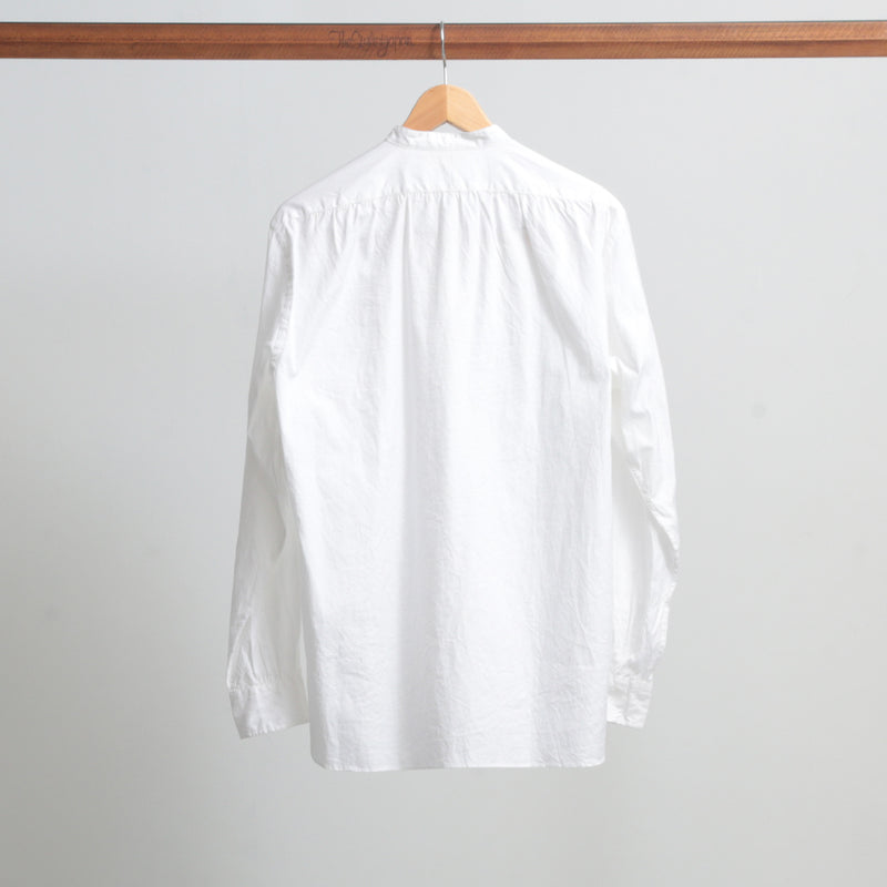 STAND COLLAR WHITE SHIRT