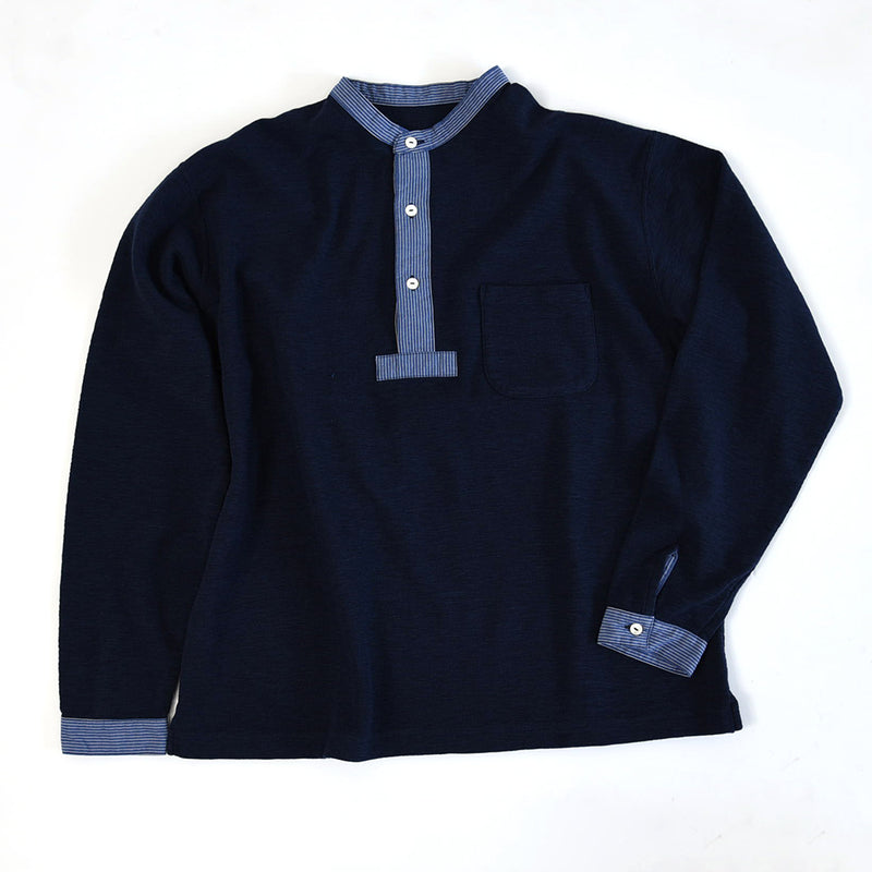 HENLEY NECK SURFKNIT LONG SLEEVE CUT AND SEAW