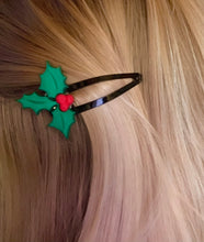 Load image into Gallery viewer, Under the Mistletoe Hair Clip