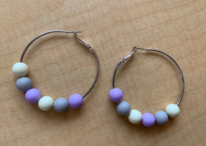 Pastel Hoop Earrings