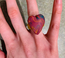 Load image into Gallery viewer, Marble Heart Ring