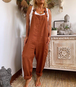 Fashion Brown Loose Casual Jumpsuit 3
