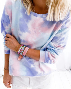 Thin Tie-Dye Long Sleeve Top 1