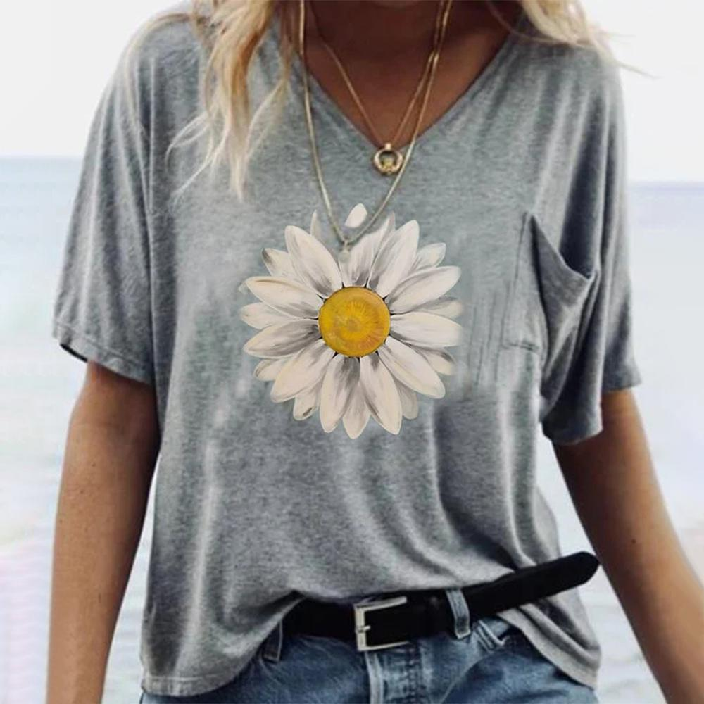 Grey Print Short Sleeve Top 0