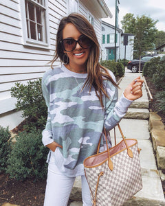 Cute on the Couch Camo Sweatshirt 1
