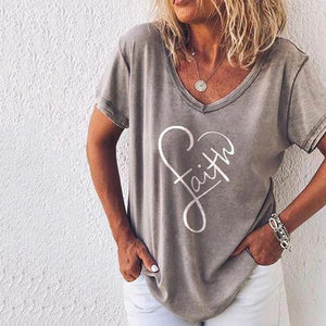Stylish V-Neck Printed Casual T-Shirt 2