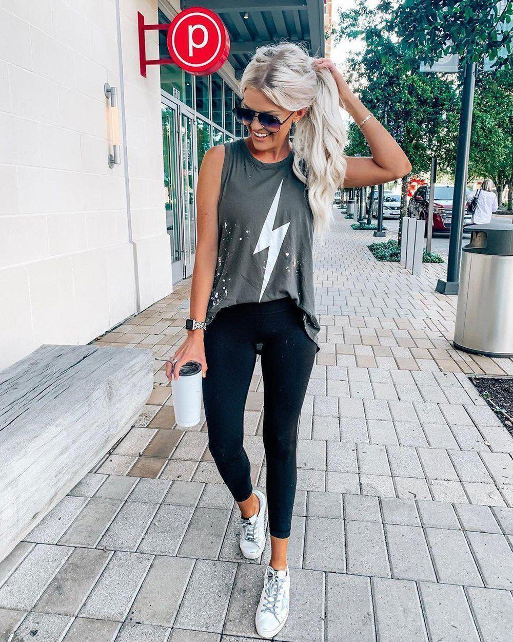 Casual Grey Round Neck Sleeveless Printed Loose T-Shirt 1