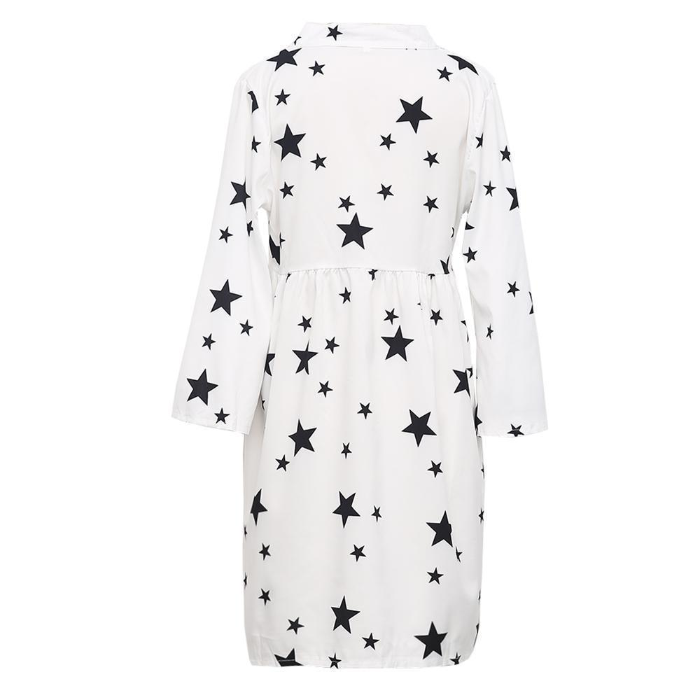 Star Printed Cover-up Dress 5